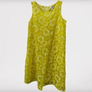 1989 Place Yellow Flower Lace Sleeveless Dress